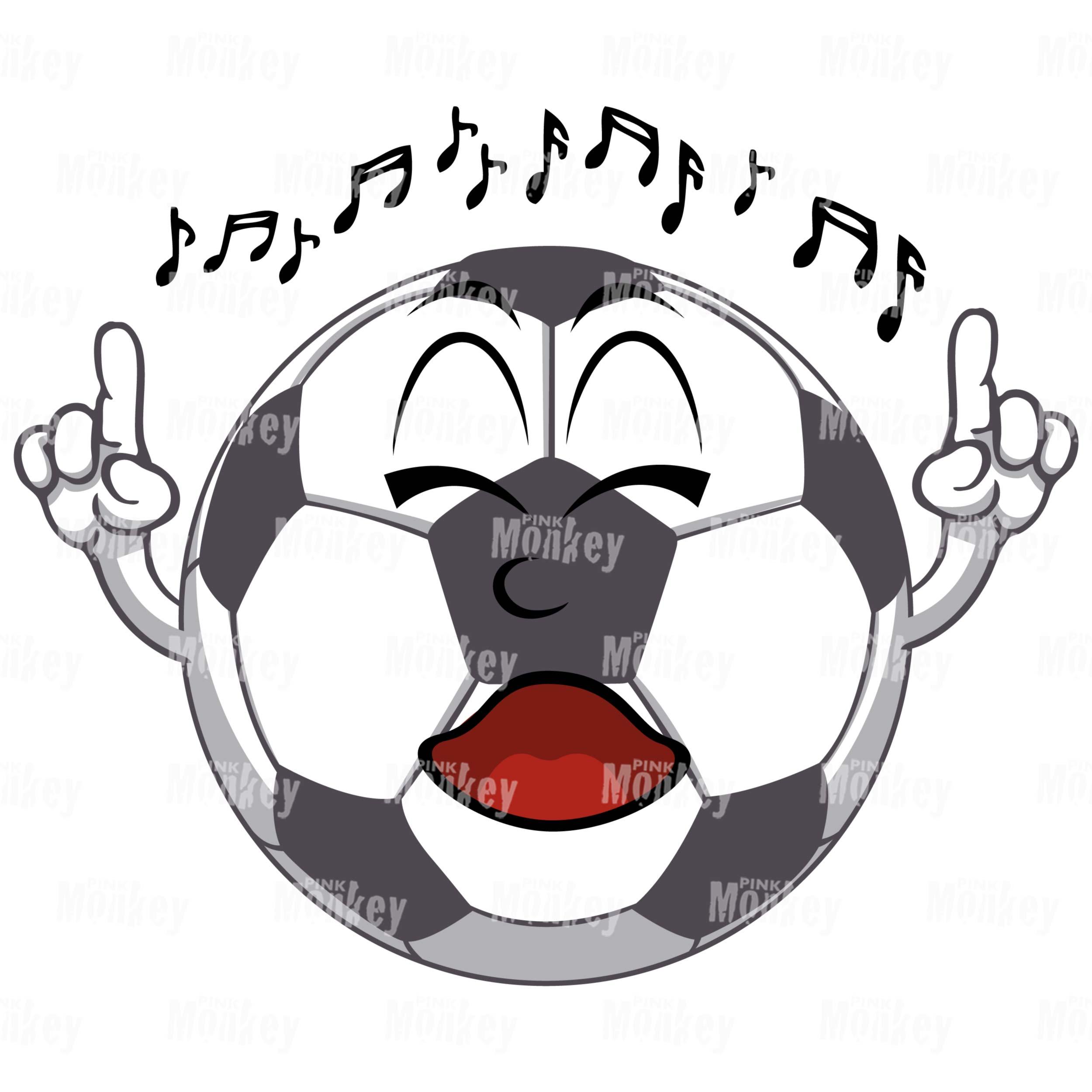 Fussball Fan Singend
