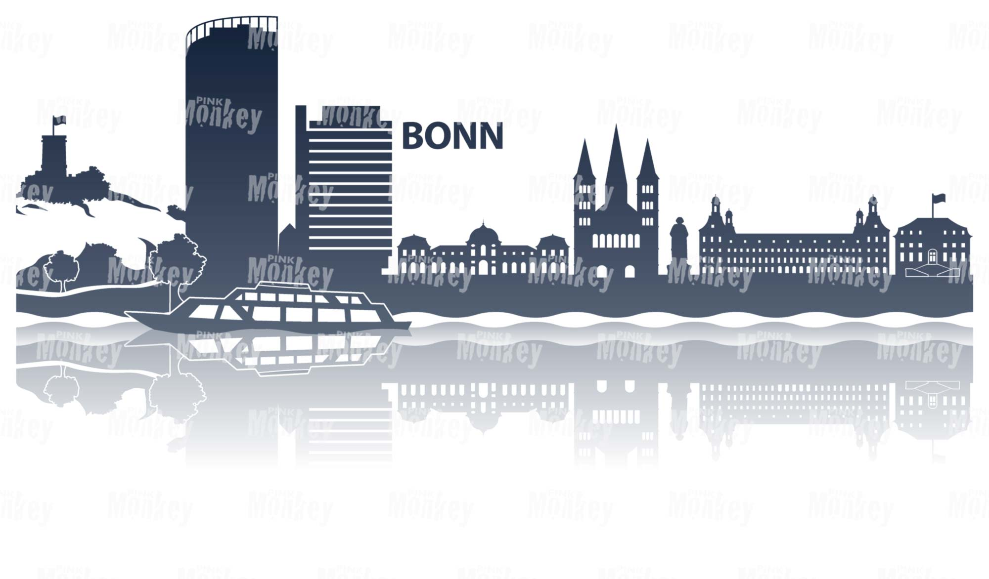 Skyline Bonn mit Schriftzug