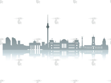 Skyline Berlin Grafik