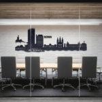 Bonn Skyline in Büroraum