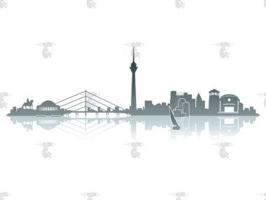 Skyline Düsseldorf Grafik