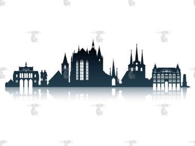 Skyline Erfurt Grafik