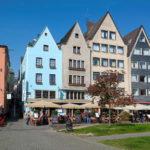 Kreuzung Frankenwerft & Salzgasse, Blick auf das Haxenhaus in Köln