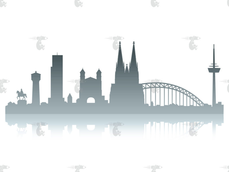 Skyline Köln Grafik