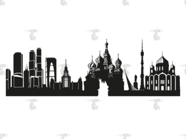 Skyline Moskau Grafik