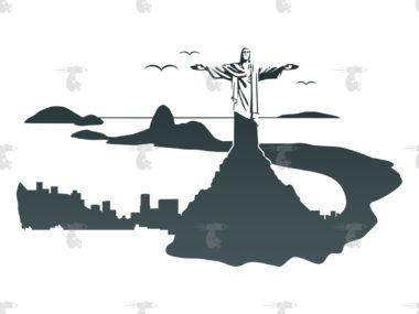 Skyline Rio de Janeiro Grafik