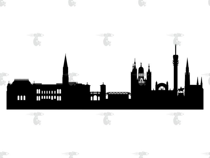 Skyline Schwerin Grafik