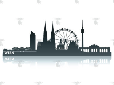Skyline Wien Grafik - Pinkmonkey Bildagentur